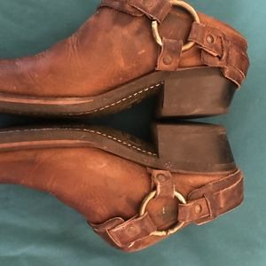 VINTAGE FRYE HARNESS MOTORCYCLE CLOGS SZ 7.5